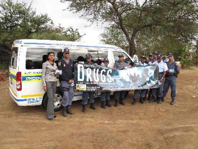 la police sud africaine lutte contre la drogue