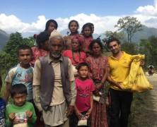 Népal : aide à la population sinistrée