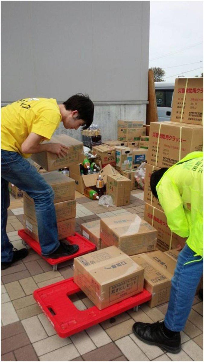 Des milliers de japonais aidés par les ministres volontaires