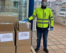 Désinfectant livré aux hôpitaux en Espagne durant l'épidémie