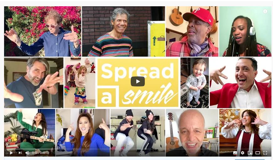 Coronavirus : des artistes scientologues et leurs amis lancent la vidéo collaborative « Spread a Smile »