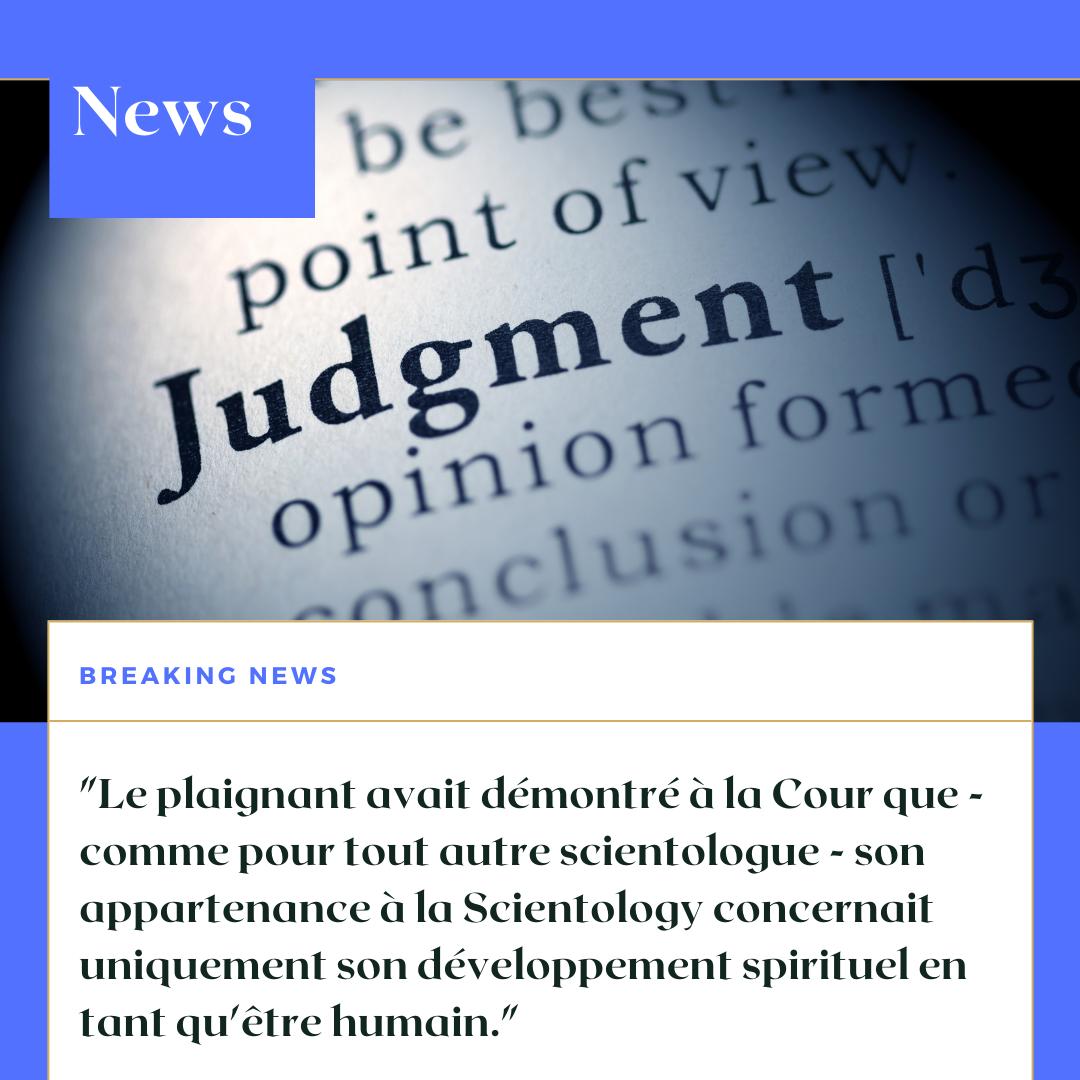 Le Land de Bade-Wurtemberg perd au tribunal contre un scientologue