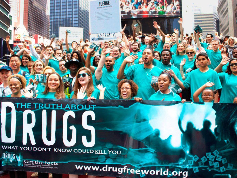 Les scientologues participent à la journée de sensibilisation aux overdoses