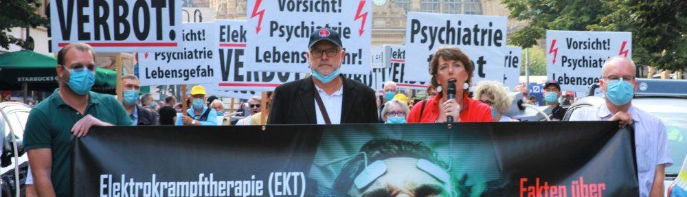Les militants des droits de l'Homme en Allemagne pour protester contre les électrochocs