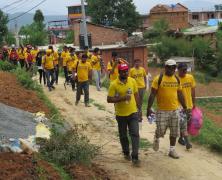 Népal : bientôt la mousson !