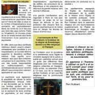 Lettre d'information et de propositions de l'Eglise de Scientologie